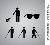 blind man symbol on gray... | Shutterstock .eps vector #149559782