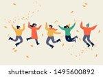 happy autumn season. warmly... | Shutterstock .eps vector #1495600892