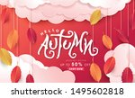 autumn calligraphy .seasonal... | Shutterstock .eps vector #1495602818