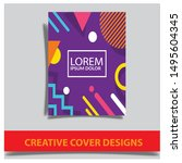 cover design template with... | Shutterstock .eps vector #1495604345