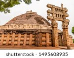 The Great Sanchi Stupa Located...