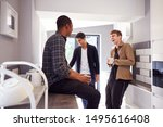 group of male college students... | Shutterstock . vector #1495616408