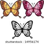 butterflies vector illustration ... | Shutterstock .eps vector #14956174
