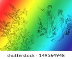 traditional chinese painting... | Shutterstock . vector #149564948