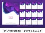 calendar 2020 abstract modern... | Shutterstock .eps vector #1495651115