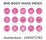 bmi body mass index round... | Shutterstock .eps vector #1495671782