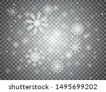 snowflakes falling on... | Shutterstock .eps vector #1495699202