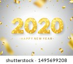 2020 happy new year background... | Shutterstock .eps vector #1495699208