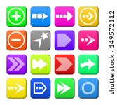apps navigation flat icons set...
