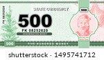 vector money banknotes... | Shutterstock .eps vector #1495741712