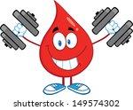 smiling red blood drop... | Shutterstock .eps vector #149574302