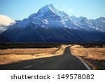 Straight Empty Road To Mount...