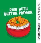 indian food vector illustration.... | Shutterstock .eps vector #1495781078