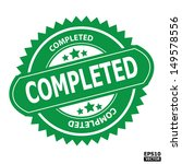 completed rubber stamp sign.... | Shutterstock .eps vector #149578556
