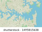 vector city map of sydney with... | Shutterstock .eps vector #1495815638