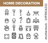 collection home decoration... | Shutterstock .eps vector #1495816232