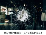 Shattered Glass Of A Shop...