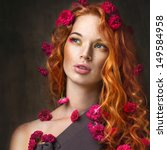 Portrait Of Red Haired Girl...