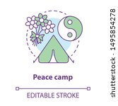 peace camp concept icon.... | Shutterstock .eps vector #1495854278