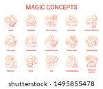 magic concept icons set.... | Shutterstock .eps vector #1495855478