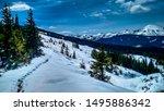 winter in the ukraine... | Shutterstock . vector #1495886342