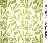 seamless pattern olive on beige ... | Shutterstock .eps vector #149588858