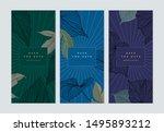 set of botanical brochure cover ... | Shutterstock .eps vector #1495893212
