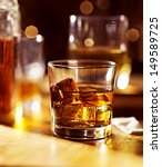 cocktail glass of whiskey on... | Shutterstock . vector #149589725