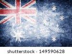 grunge flag of australia on... | Shutterstock . vector #149590628