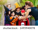 kids trick or treat on...   Shutterstock . vector #1495940078