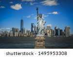 The Statue Of Liberty Over The...