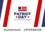 patriot day in united states.... | Shutterstock .eps vector #1495968338