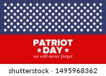 patriot day in united states.... | Shutterstock .eps vector #1495968362