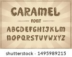 handwriting vector font ... | Shutterstock .eps vector #1495989215