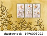 3d illustration  beautiful... | Shutterstock . vector #1496005022