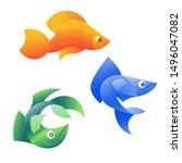 vector illustration of orange ... | Shutterstock .eps vector #1496047082
