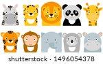 jungle animals  vector animal... | Shutterstock .eps vector #1496054378