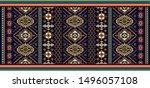 rectangular ornamental vector... | Shutterstock .eps vector #1496057108