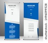 roll up banner vertical... | Shutterstock .eps vector #1496099528