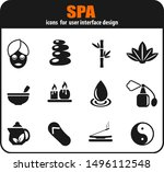 spa icon set for your design.... | Shutterstock .eps vector #1496112548