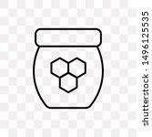 honey jar icon isolated on...
