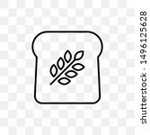 toast bread icon isolated on...