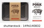 package design for farm fresh... | Shutterstock .eps vector #1496140832