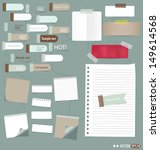 set of various note papers ... | Shutterstock .eps vector #149614568