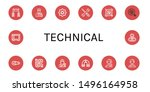 set of technical icons such as... | Shutterstock .eps vector #1496164958