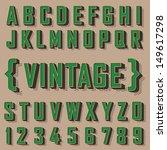alphabet vintage style. vector...   Shutterstock .eps vector #149617298
