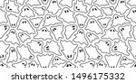 ghost seamless pattern... | Shutterstock .eps vector #1496175332