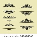 floral ornament decorations.... | Shutterstock .eps vector #149620868