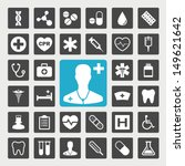 medical vector icon set | Shutterstock .eps vector #149621642