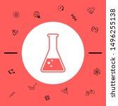 test tube symbol bubbles.... | Shutterstock .eps vector #1496255138